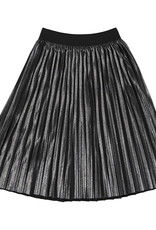 Mayoral Big Girls Pewter Pleated Utrasuede Skirt