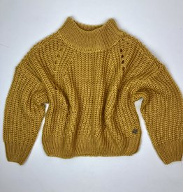 Madison Girls Gold Oversize Sweater