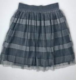 Mayoral Girls Charcoal Tulle Stripe Skirt