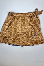 NONO Big Girls Gold Satin Reversible Skirt