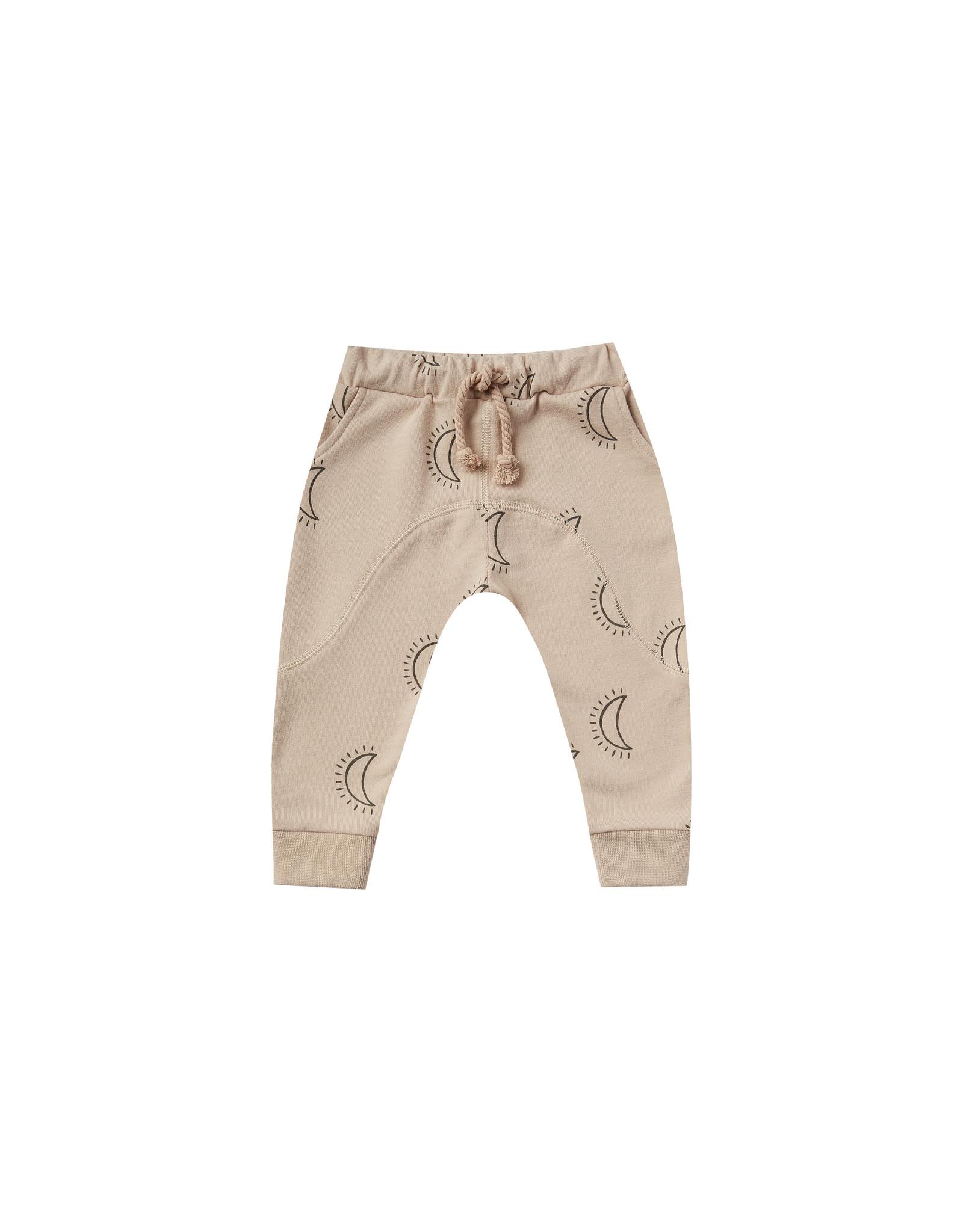 Rylee + Cru Infant Oat Moons Print Knit Pant