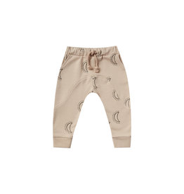 Rylee + Cru Infant Oat Moons Print Knit Pant