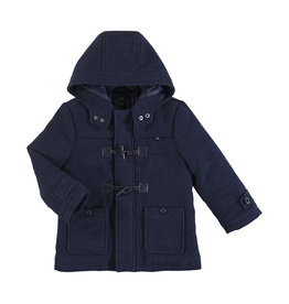 Mayoral Navy Plaid Toggle Flannel Coat