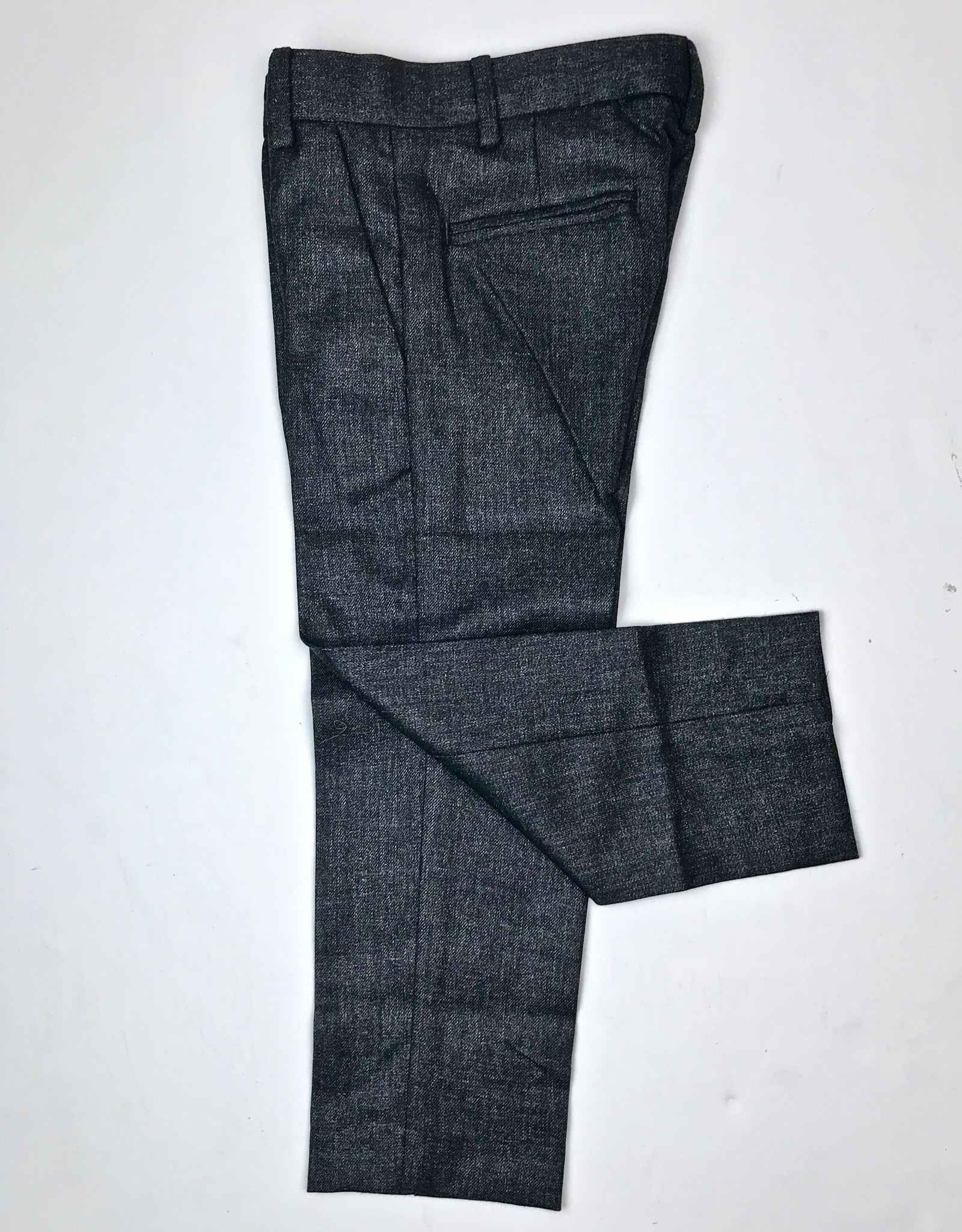 Little Boys Slim Fit Charcoal Flannel Trouser