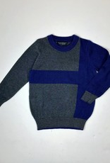 Boys Charcoal Royal Colorblock Sweater