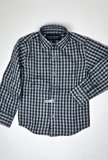 Leo and Zachary Boys Black and Grey Check Shirt