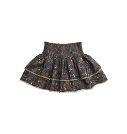 Girls Forest Print Layered Skirt