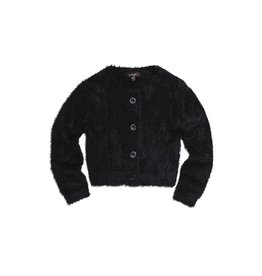 Girls Black Fuzzy Clara Cardigan