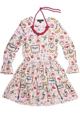 Girls Pink Memento Print Modal Dress