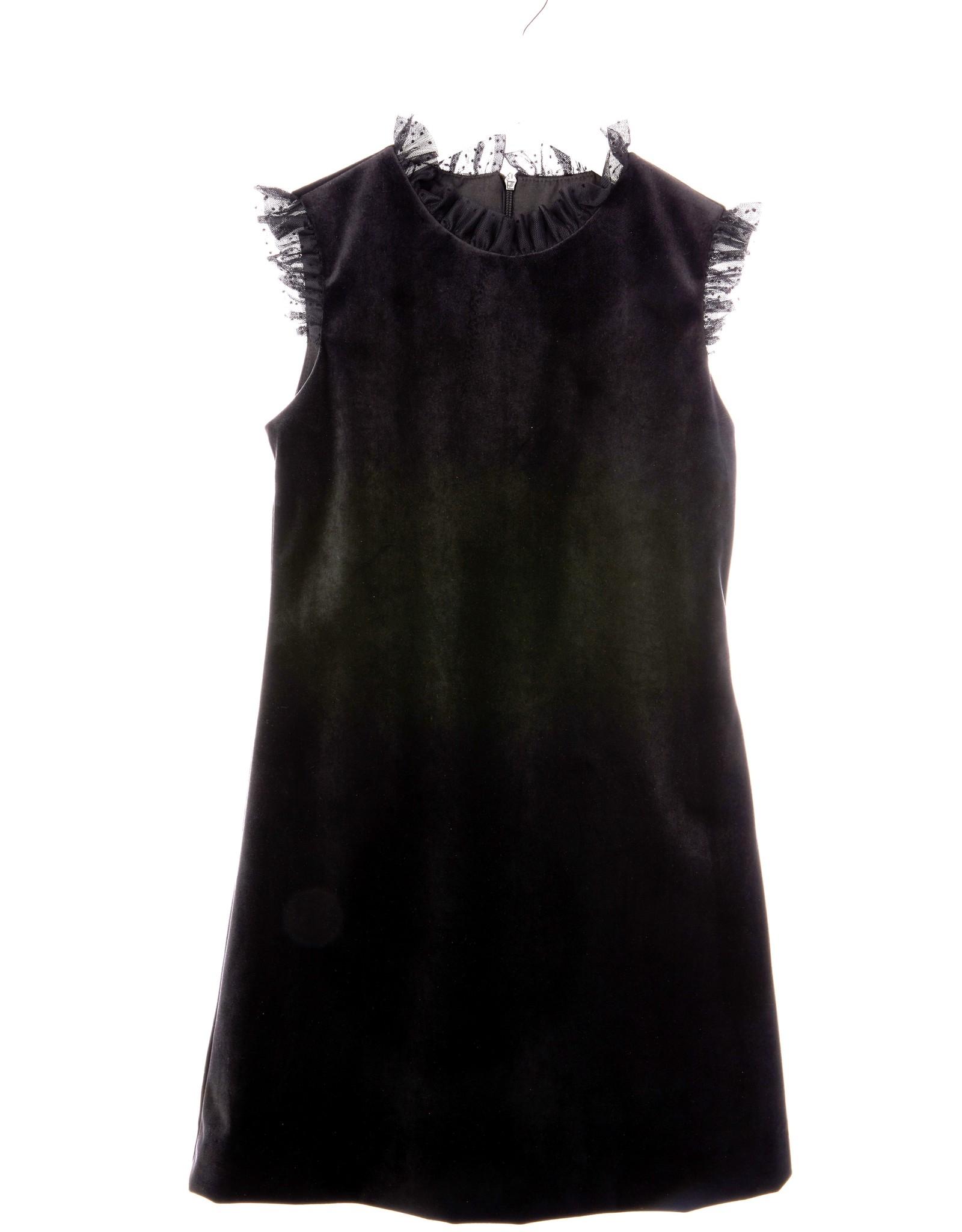 Black Velvet Dress With Black Tulle Ruffles 6928 Four And Twenty Sailors