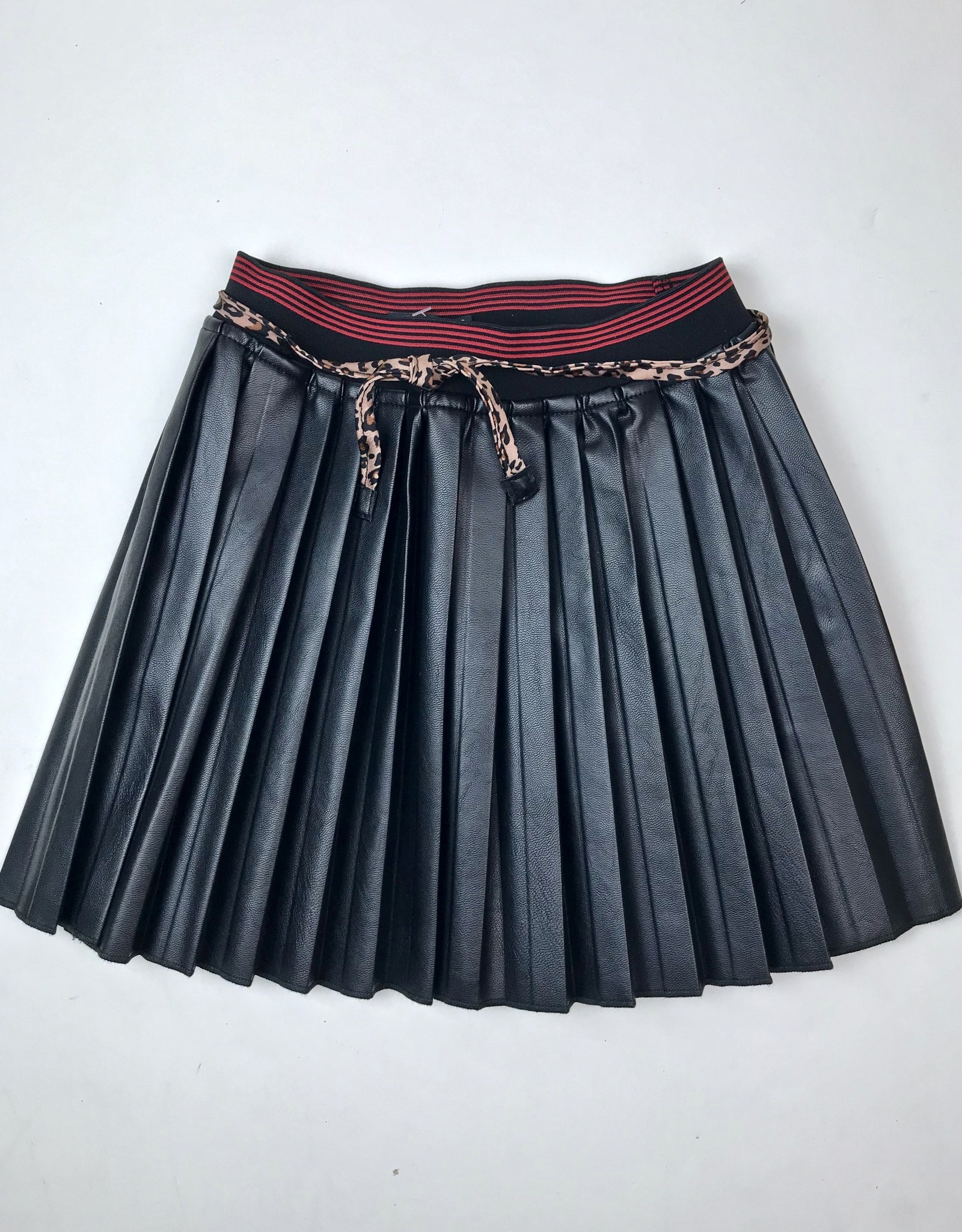 NONO Black Pleather pleated skirt