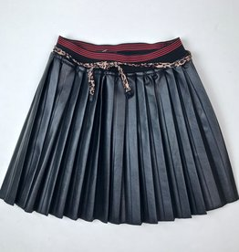 NONO Black Pleather pleated skirt