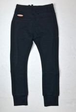 NONO Black Knit 67 Jogger with Buttons Draw String