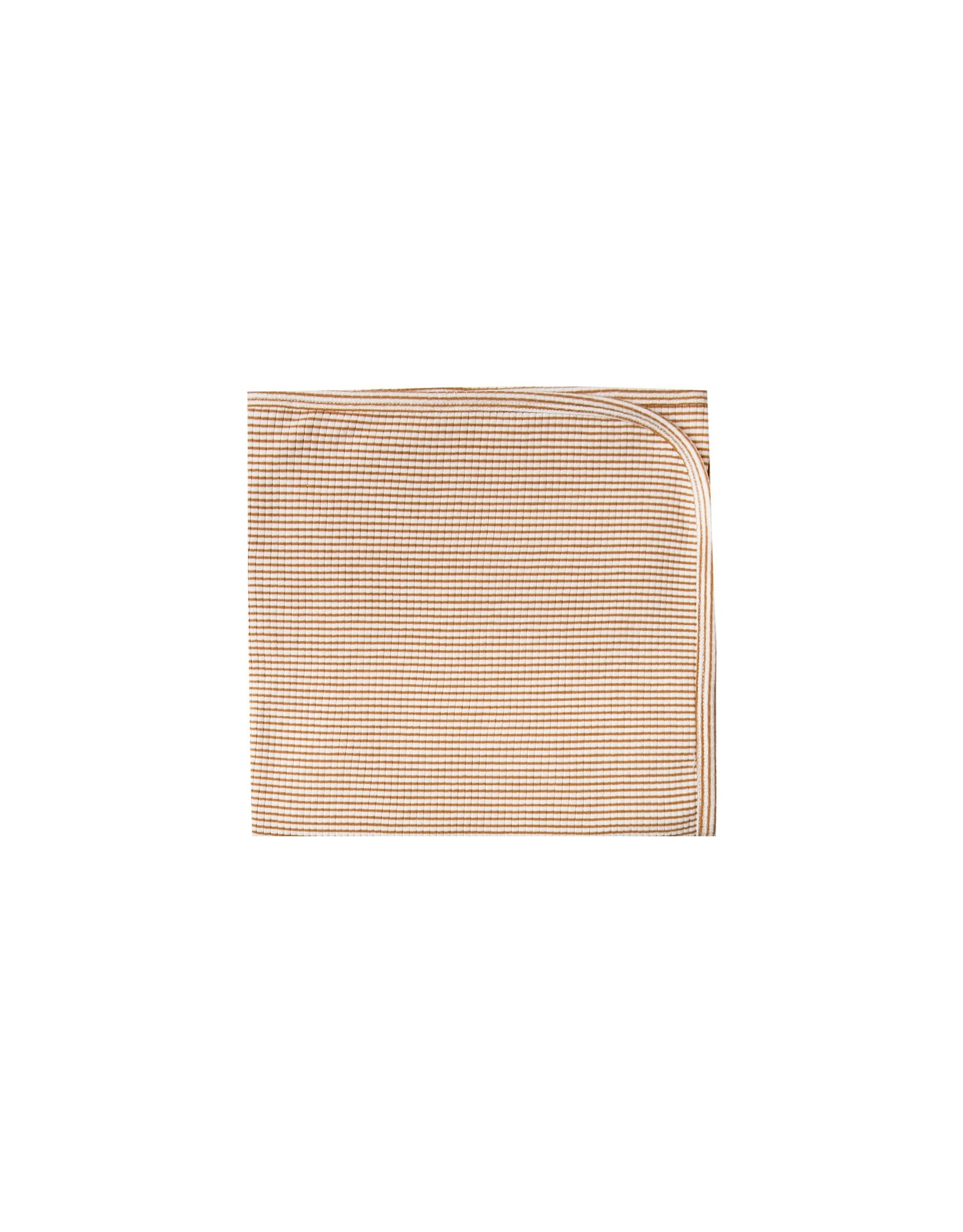 Quincy Mae Stripe Ribbed Blanket Walnut & Grey