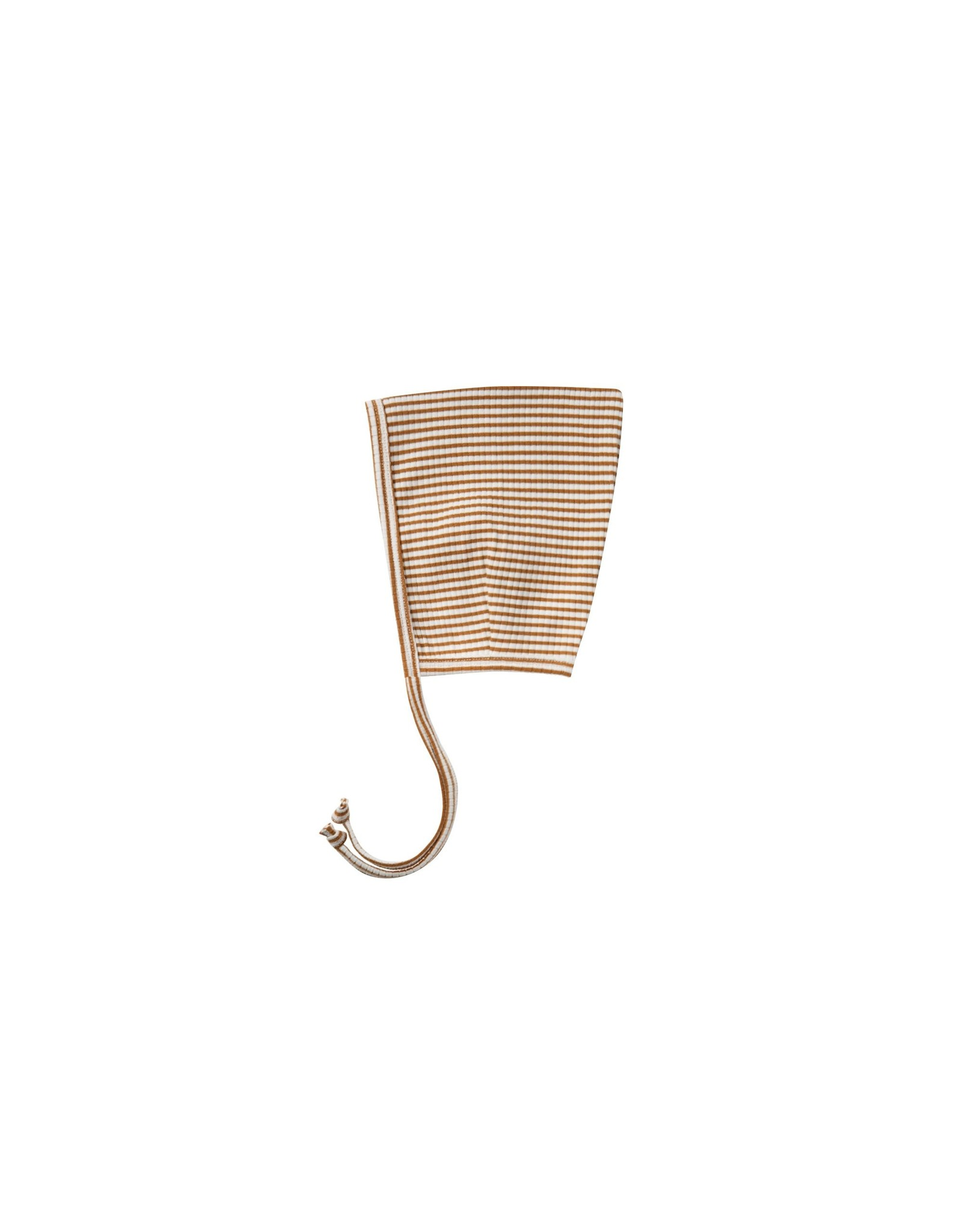 Quincy Mae Walnut Stripe Ribbed Bonnet