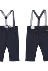 Mayoral Infant Boys Navy Twill Suspender Pant