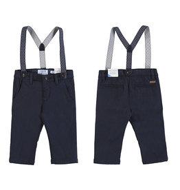 Mayoral Infant Boys Navy Twill Suspender Pant