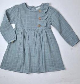 City Mouse Aqua Blue Gauze Dress
