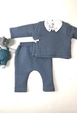 Petit Bateau Slat Blue Quilted Kimono Set