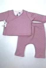 Petit Bateau Infant Pink Quilted Kimono Set