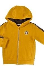 Mayoral Gold Zip Track Jacket  Sleeve Stripe