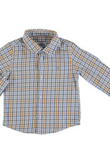 Mayoral Infant Boys Blue Orange Check Shirt