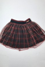 NONO Big Girls Red plaid mesh skirt 5703