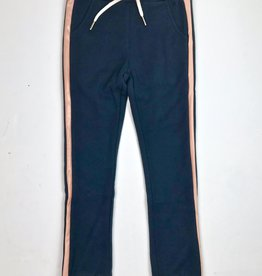 Like Flo Girls Navy jogger With Rose Gold Side Stripe