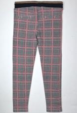 NONO Big Girls Red Black Plaid Knit Pant