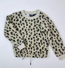 Like Flo Girls Beige Leopard Furry Pullover