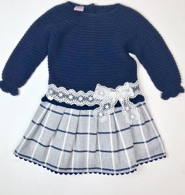 Juliana Navy Dress Knit top plaid skirt 2112