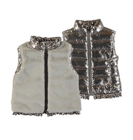 Mayoral Puffer Metallic Reversible  Vest 4352