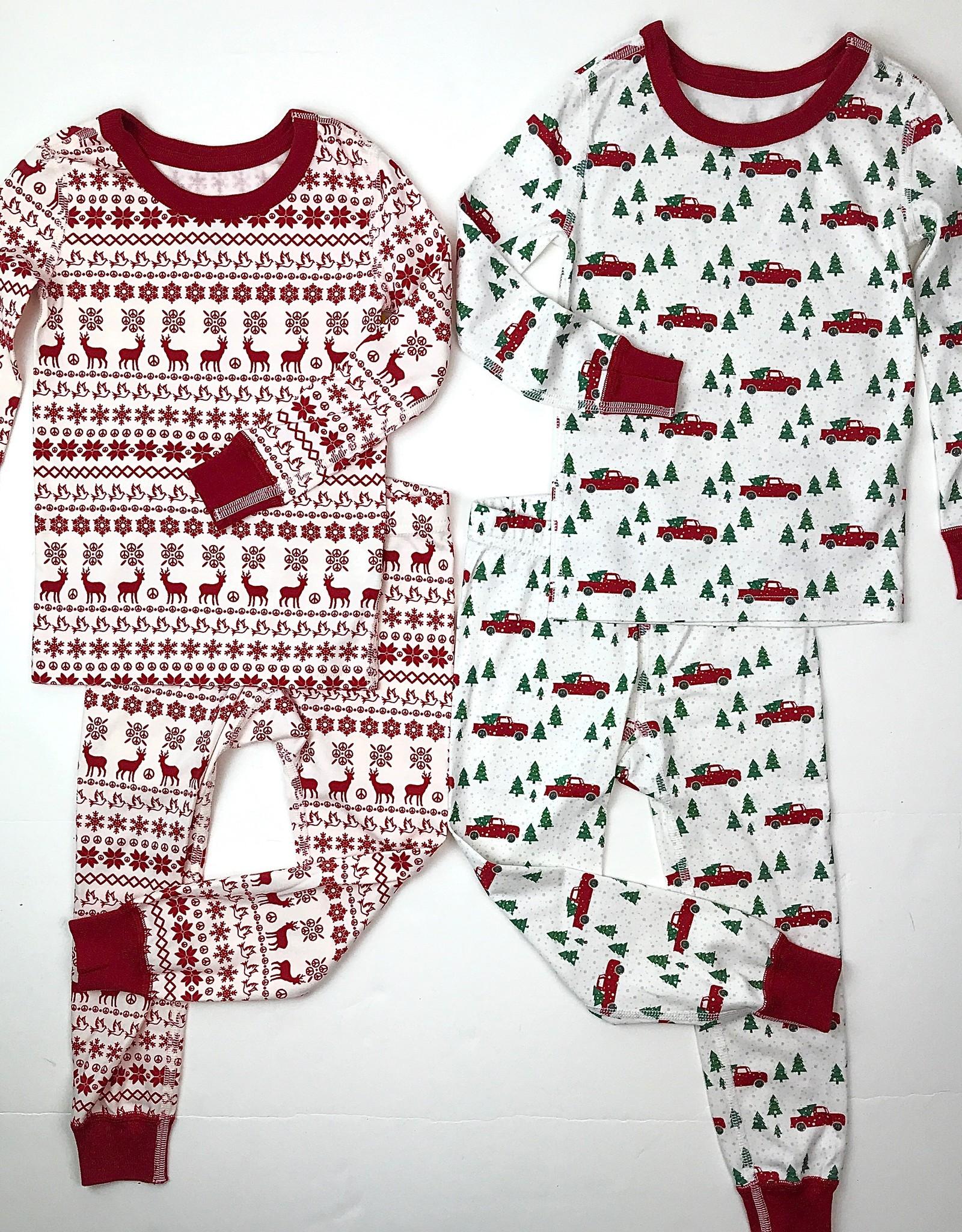 Pajamas for Peace Christmas Print Longjohns