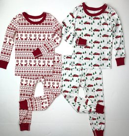 Pajamas for Peace Christmas Print Longjohns