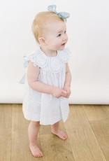 Luli LtBlue Dot Dresss Petal colllar and Bloomer 3001