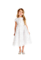 Sweet Kids Embroidered Lace Dress pearl waist