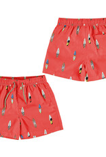 Mayoral Swimsuit Red Surfboard  Print