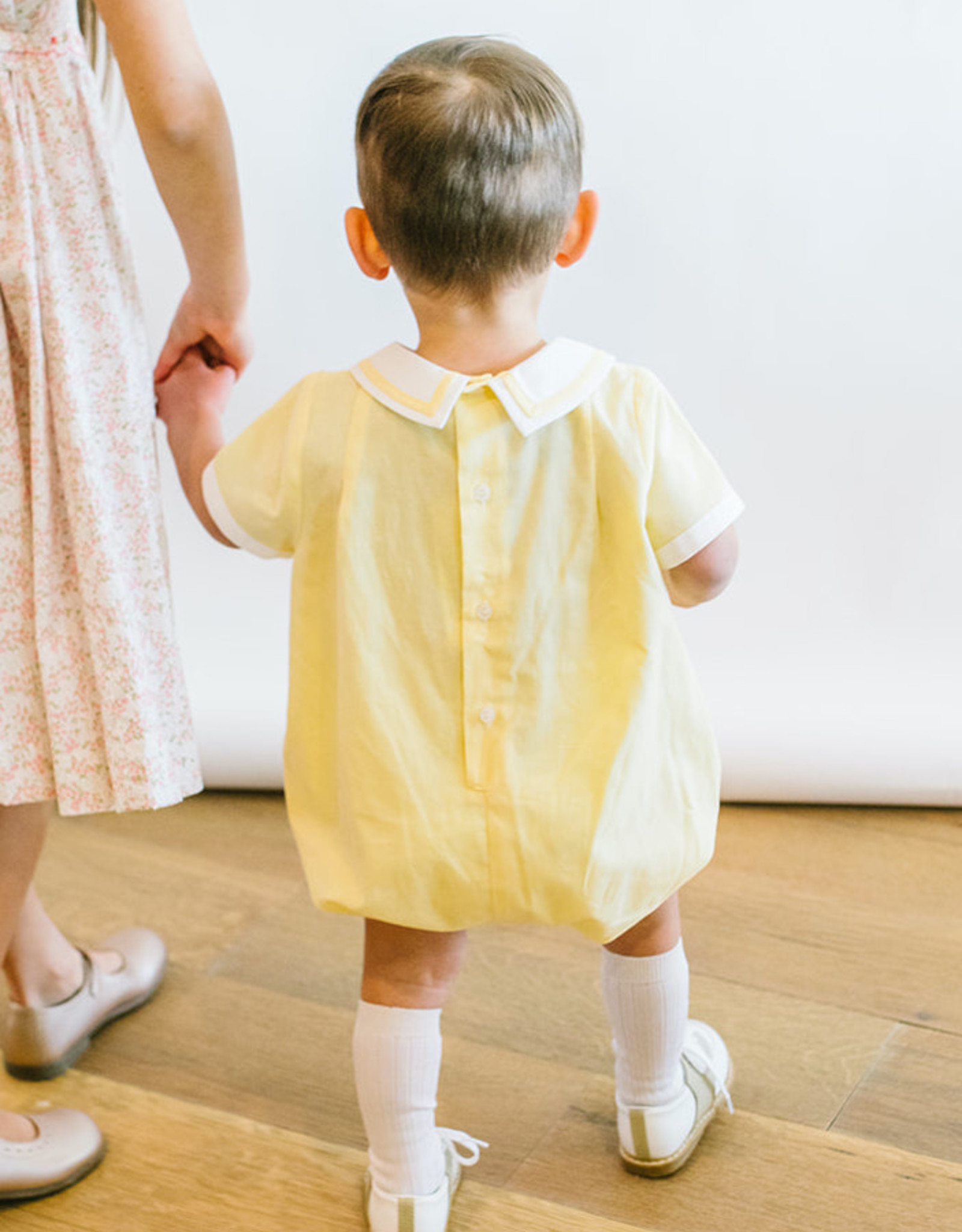 Luli Yellow Bubble with White Collar