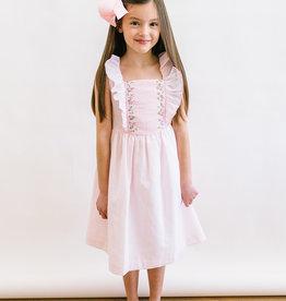 Luli Pink Smocked Pinafore Dress