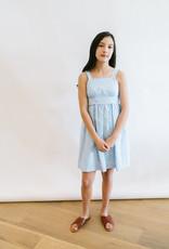 Gabby Blue White Print Cotton Sundress