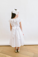 Luli White Dress Smocked With Scallop Collar