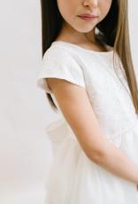 Sweet Kids Dress Off White Lace Bodice, Layered Mesh skirt
