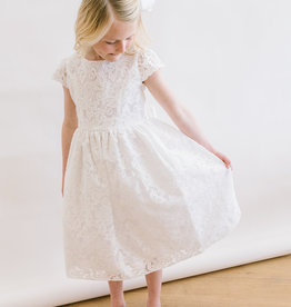 Sweet Kids White appliqué lace Dress