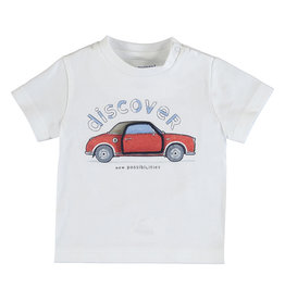 Mayoral Tee White with Red Car