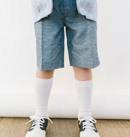 Leo and Zachary Shorts Slate Blue Verigated 504