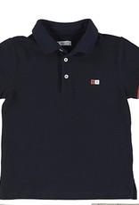 Mayoral Navy Polo with Clay Trim