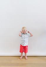 Leo and Zachary Shorts Grapefruit Red Twill  528