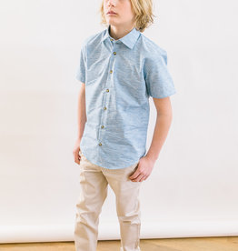 Leo and Zachary Shirt s/s Verigated Chambre 5829