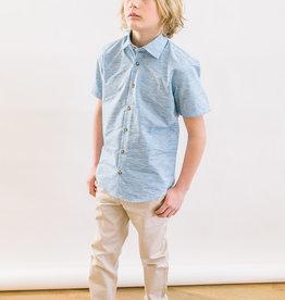 Leo and Zachary Shirt  Variegated Chambray