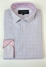 Leo and Zachary Shirt Blue Pink Tattersal